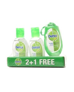 Detol Hand Sanitizer Original 2+1 Free 50 ml