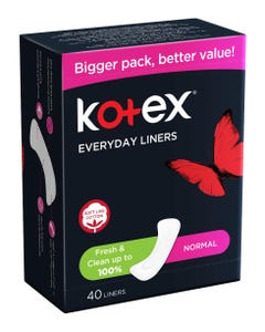 Kotex Liners Normal Flat Unscented 40 Pads