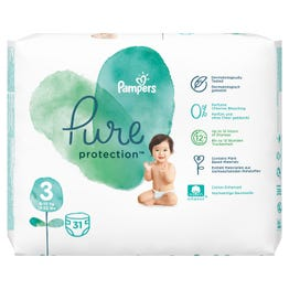 Pampers Pure Size (3) Value Pack 31 Diapers