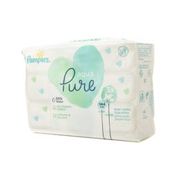 Pampers Pure Aqua Wipes 144 Wipes