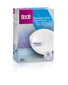 Lovi Discreet Disposable Breast Pads White 20 Pcs