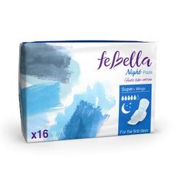 Febella  Thin Night Pads X16