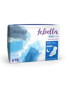 Febella  Thin Night Pads X16