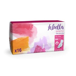 Febella  Thin Normal Pads X16