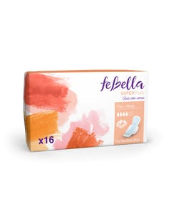 Febella  Thin Super Pads X16