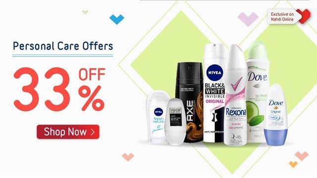 Deodorants 33% Off Offer