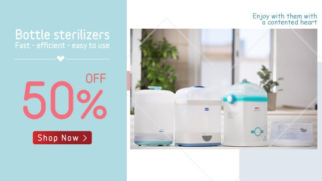 Sterilizers 50% Off Offer